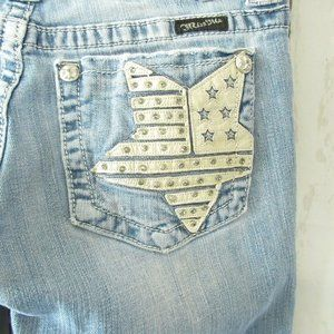 Miss Me Jeans Boot Leather Star Patriotic July 4th